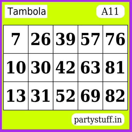 PS Tambola Tickets - Sticker 11