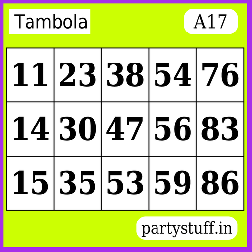 PS Tambola Tickets - Sticker 17