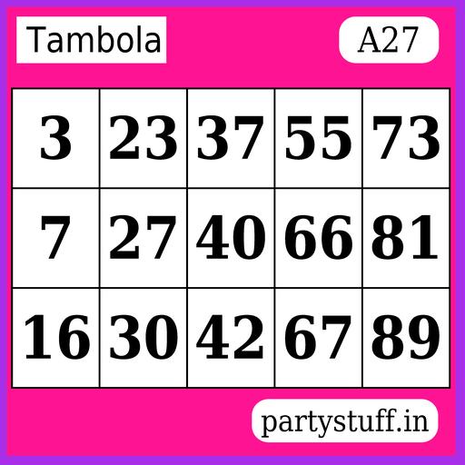 PS Tambola Tickets - Sticker 27
