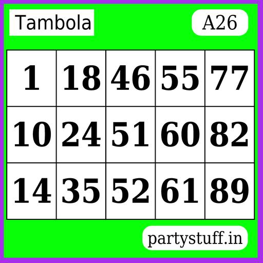 PS Tambola Tickets - Sticker 26
