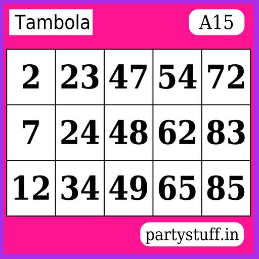 PS Tambola Tickets - Sticker 15