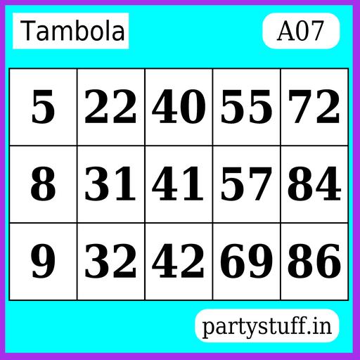 PS Tambola Tickets - Sticker 7