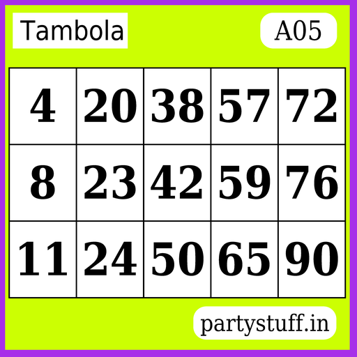 PS Tambola Tickets - Sticker 5