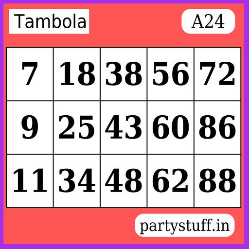 PS Tambola Tickets - Sticker 24