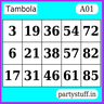 PS Tambola Tickets - Tray Sticker