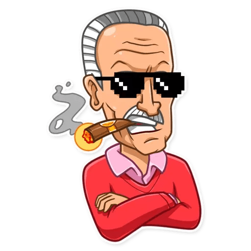 Stan Lee - Sticker 27