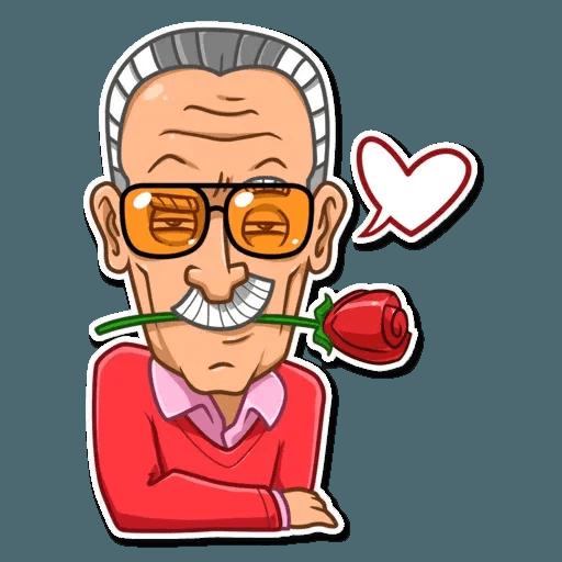 Stan Lee - Sticker 29