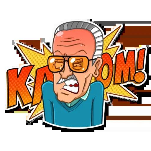 Stan Lee - Sticker 30