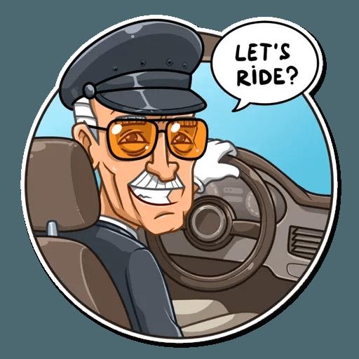 Stan Lee - Sticker 10