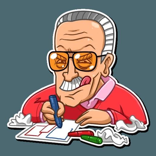 Stan Lee - Sticker 14