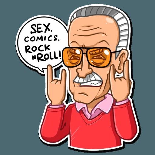 Stan Lee - Sticker 22