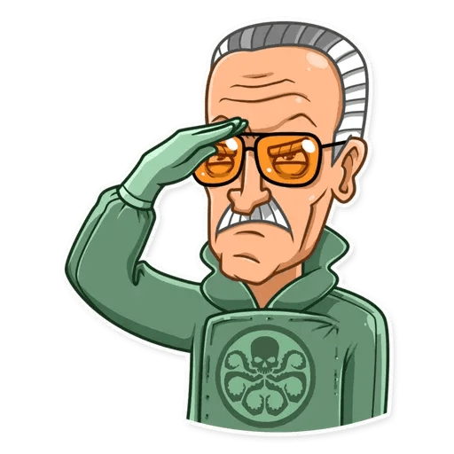 Stan Lee - Sticker 18