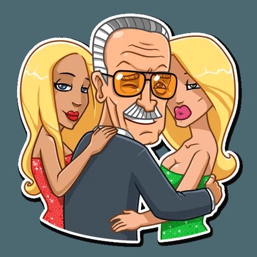 Stan Lee - Sticker 20