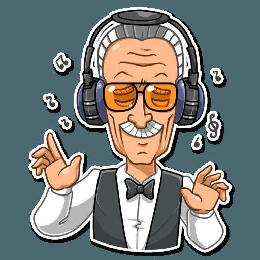Stan Lee - Sticker 9