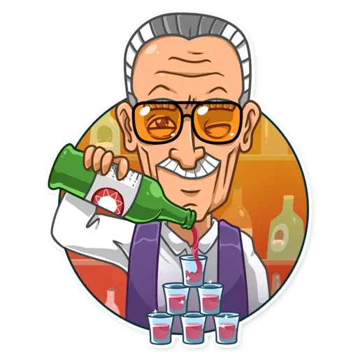 Stan Lee - Sticker 8