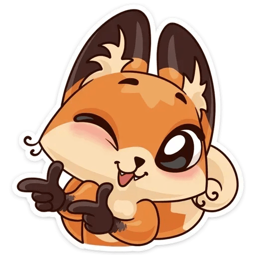 Luna the fox - Sticker 22