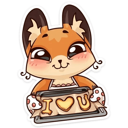 Luna the fox - Sticker 18