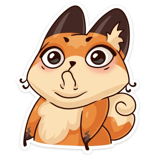 Luna the fox - Sticker 5