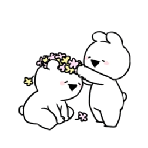 Extremely little rabbit & bear 2 - Sticker 2