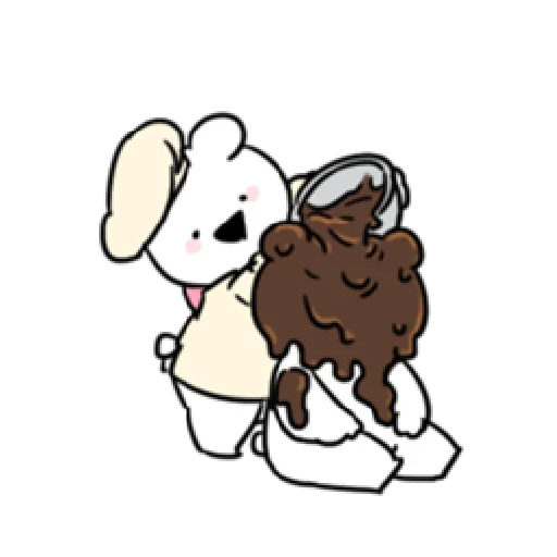 Extremely little rabbit & bear 2 - Sticker 26