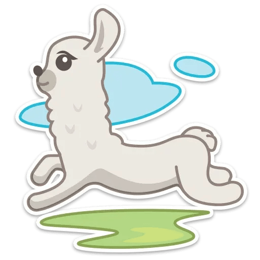 Cute lama - Sticker 3