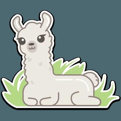 Cute lama - Sticker 10
