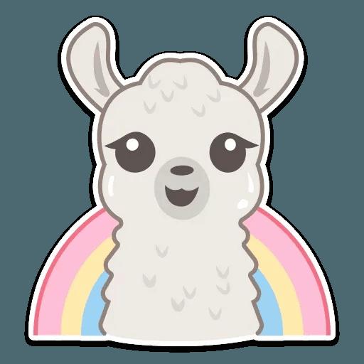 Cute lama - Sticker 9