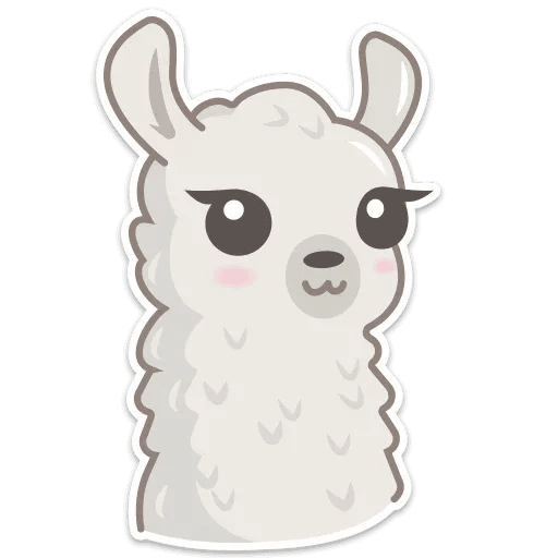 Cute lama - Sticker 2
