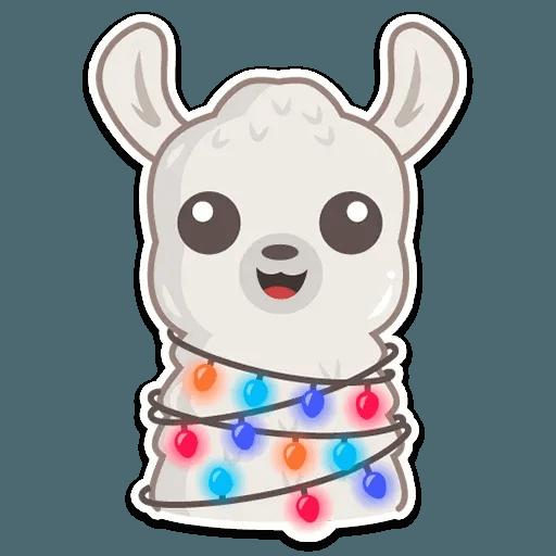 Cute lama - Sticker 14