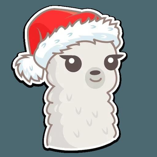 Cute lama - Sticker 12