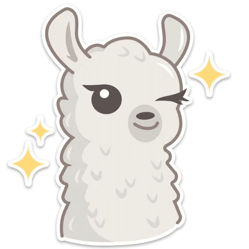 Cute lama - Sticker 5