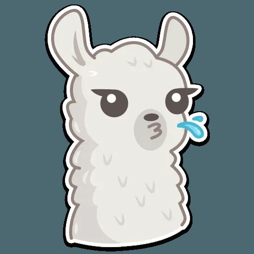 Cute lama - Sticker 15