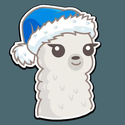 Cute lama - Sticker 13