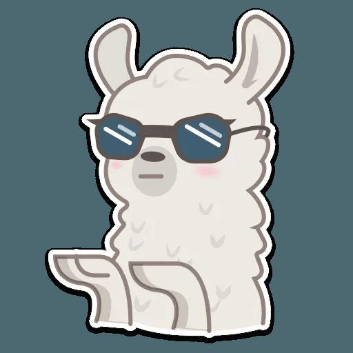 Cute lama - Sticker 7