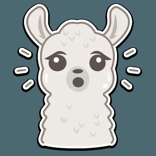 Cute lama - Sticker 8