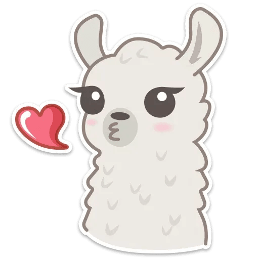 Cute lama - Sticker 1