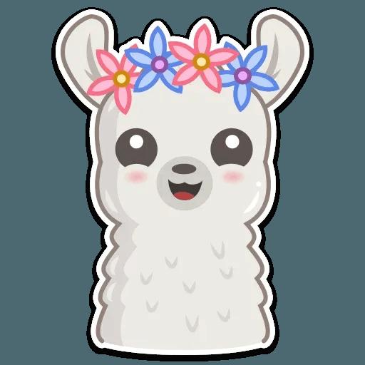 Cute lama - Sticker 16