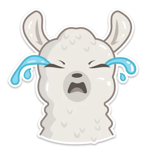 Cute lama - Sticker 4