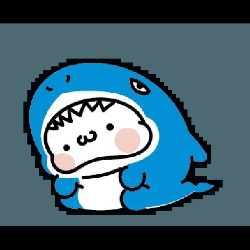 激動小饅頭 鯊鯊來襲 - Sticker 22