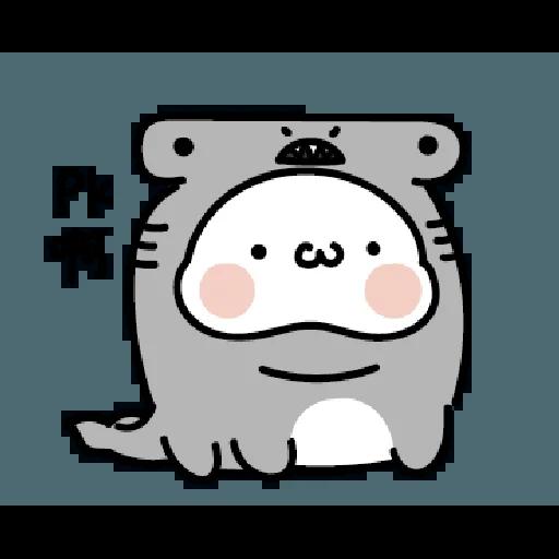 激動小饅頭 鯊鯊來襲 - Sticker 14