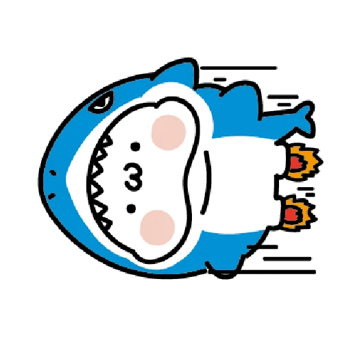 激動小饅頭 鯊鯊來襲 - Sticker 24