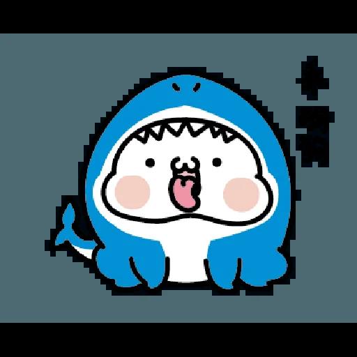 激動小饅頭 鯊鯊來襲 - Sticker 19