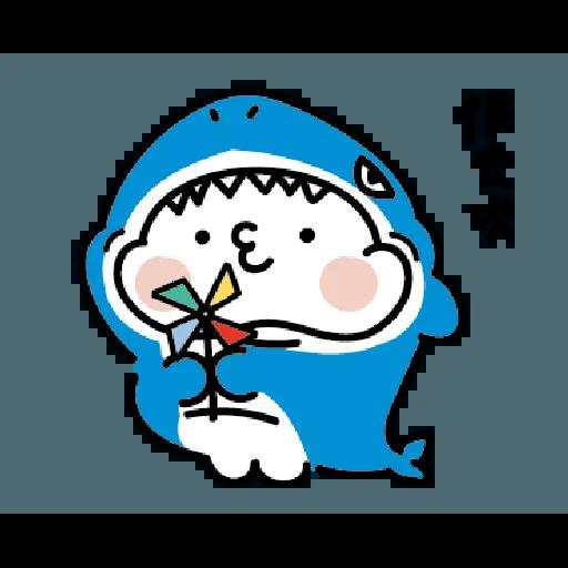 激動小饅頭 鯊鯊來襲 - Sticker 13