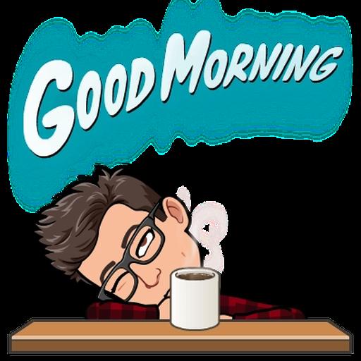 Good morning - Tray Sticker