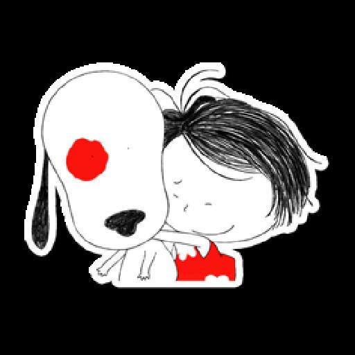 Nata and dog - Sticker 21