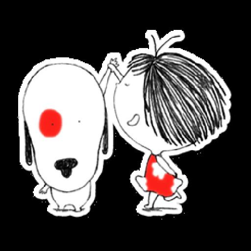 Nata and dog - Sticker 9