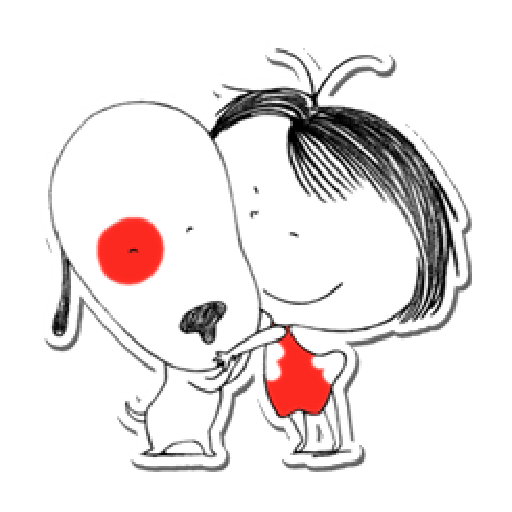 Nata and dog - Sticker 25