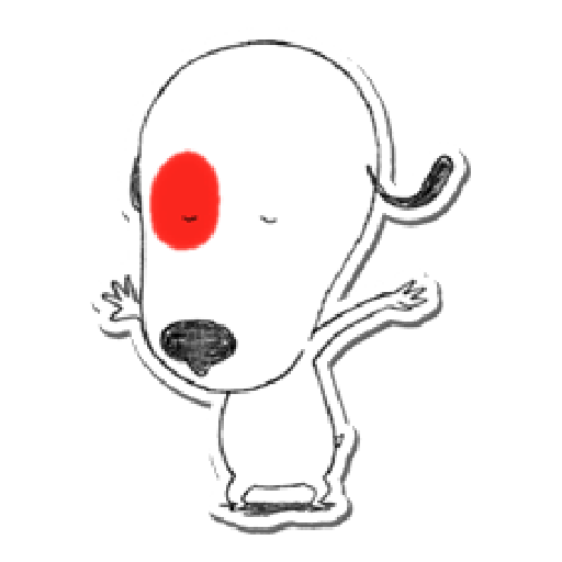 Nata and dog - Sticker 2