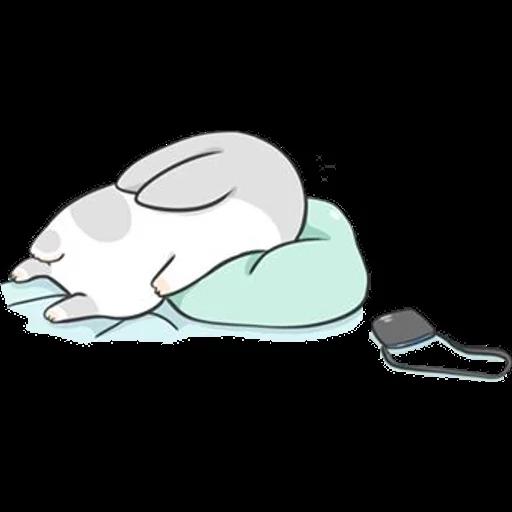 ㄇㄚˊ幾兔16 Tired, 自己 - Sticker 21