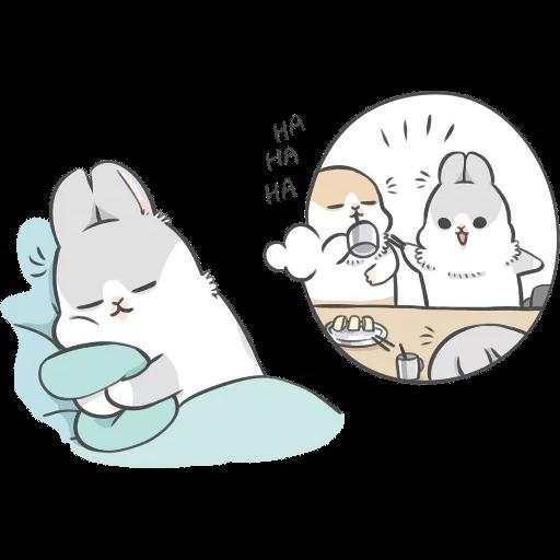 ㄇㄚˊ幾兔16 Tired, 自己 - Sticker 10